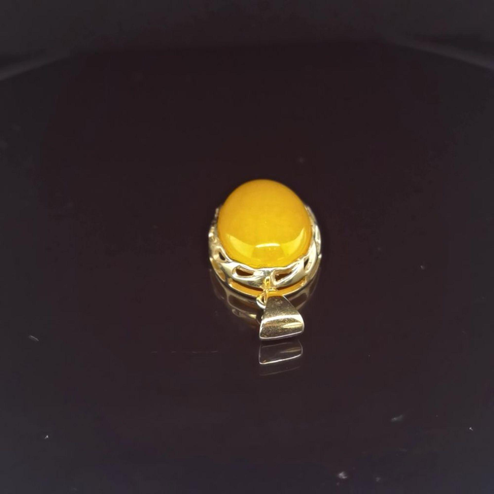 Bernstein-Anhänger, 375 Gelbgold 4,2 - Image 2 of 3