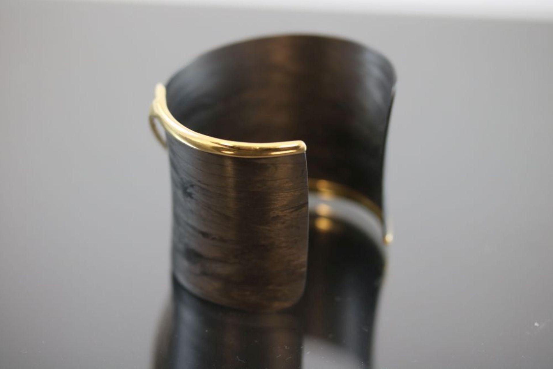 Armreif, Carbon/ Metall vergoldet 17,3 - Image 2 of 3