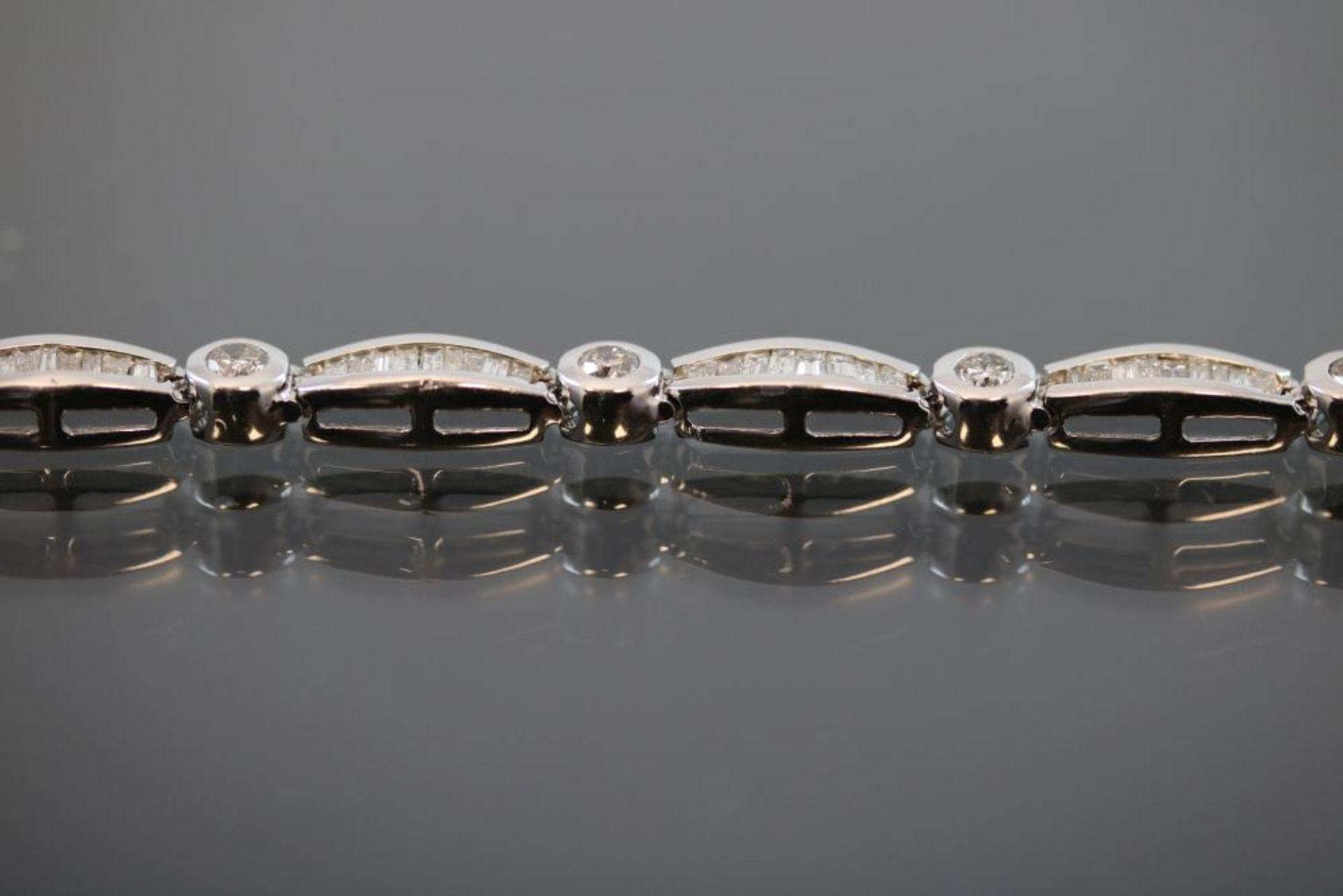 Brillant-Diamant-Armband, 750 Weißgold - Image 3 of 3