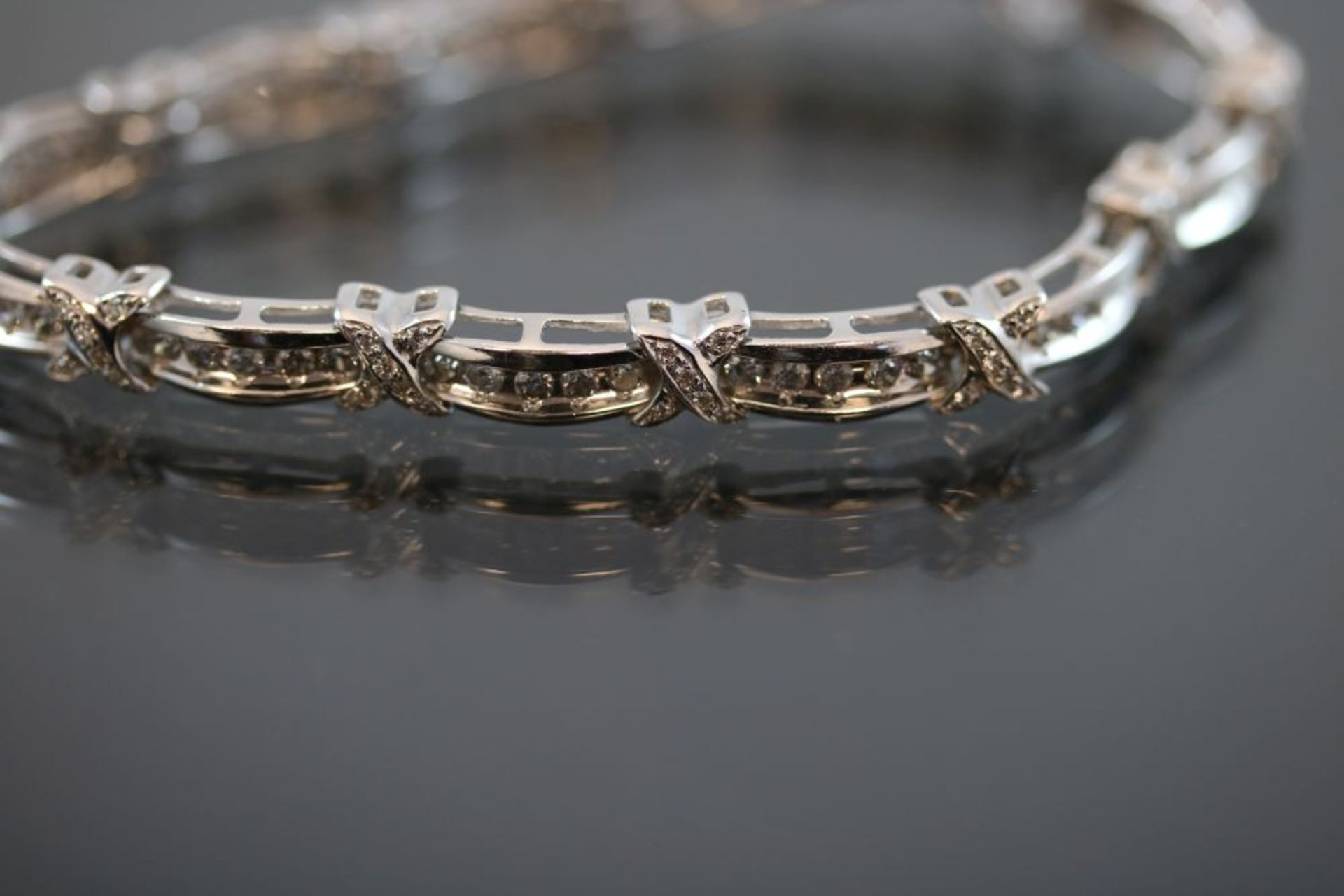 Brillant-Armband, 750 Weißgold 15