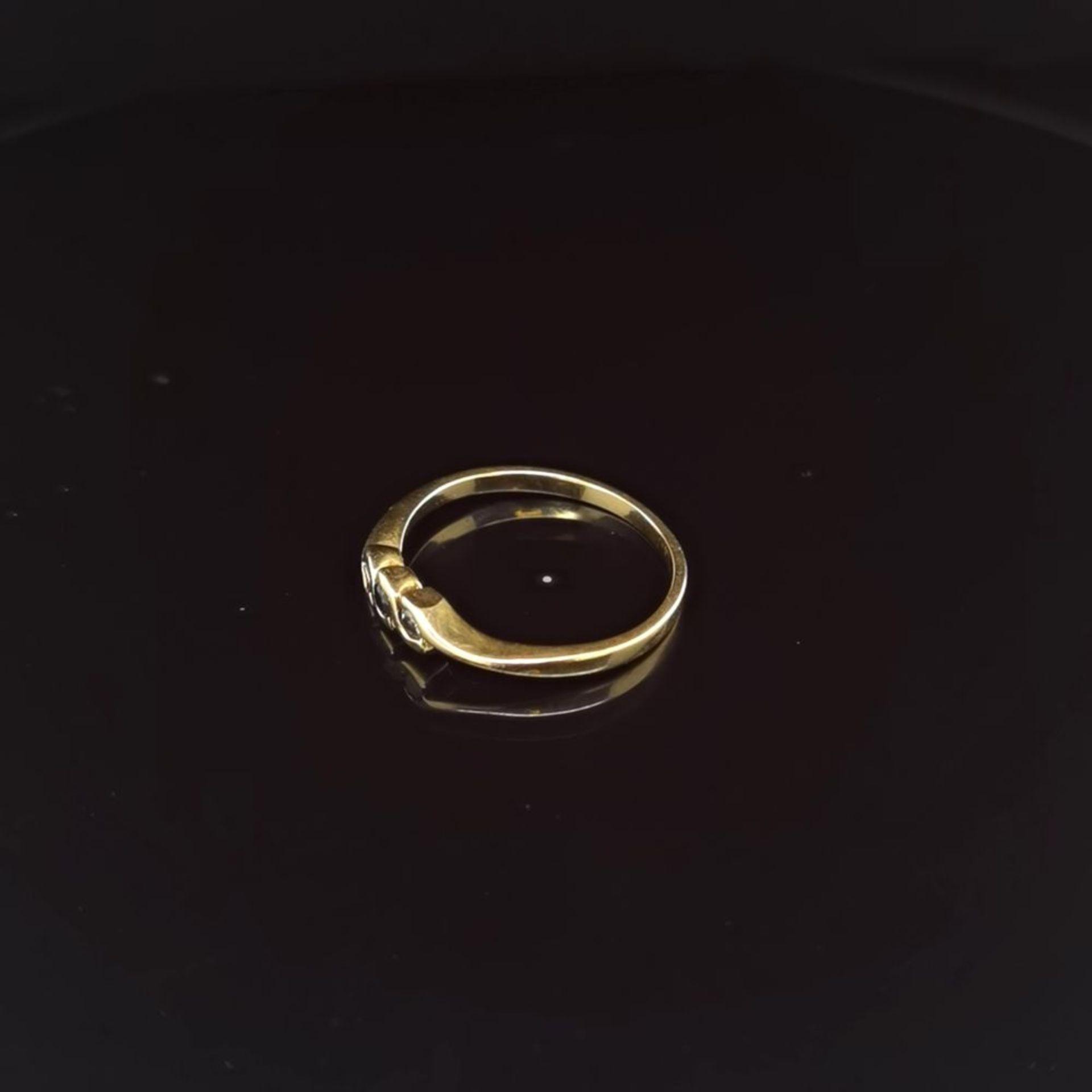 Saphir-Brillant-Ring, 750 Gelbgold 2,1 - Image 2 of 3