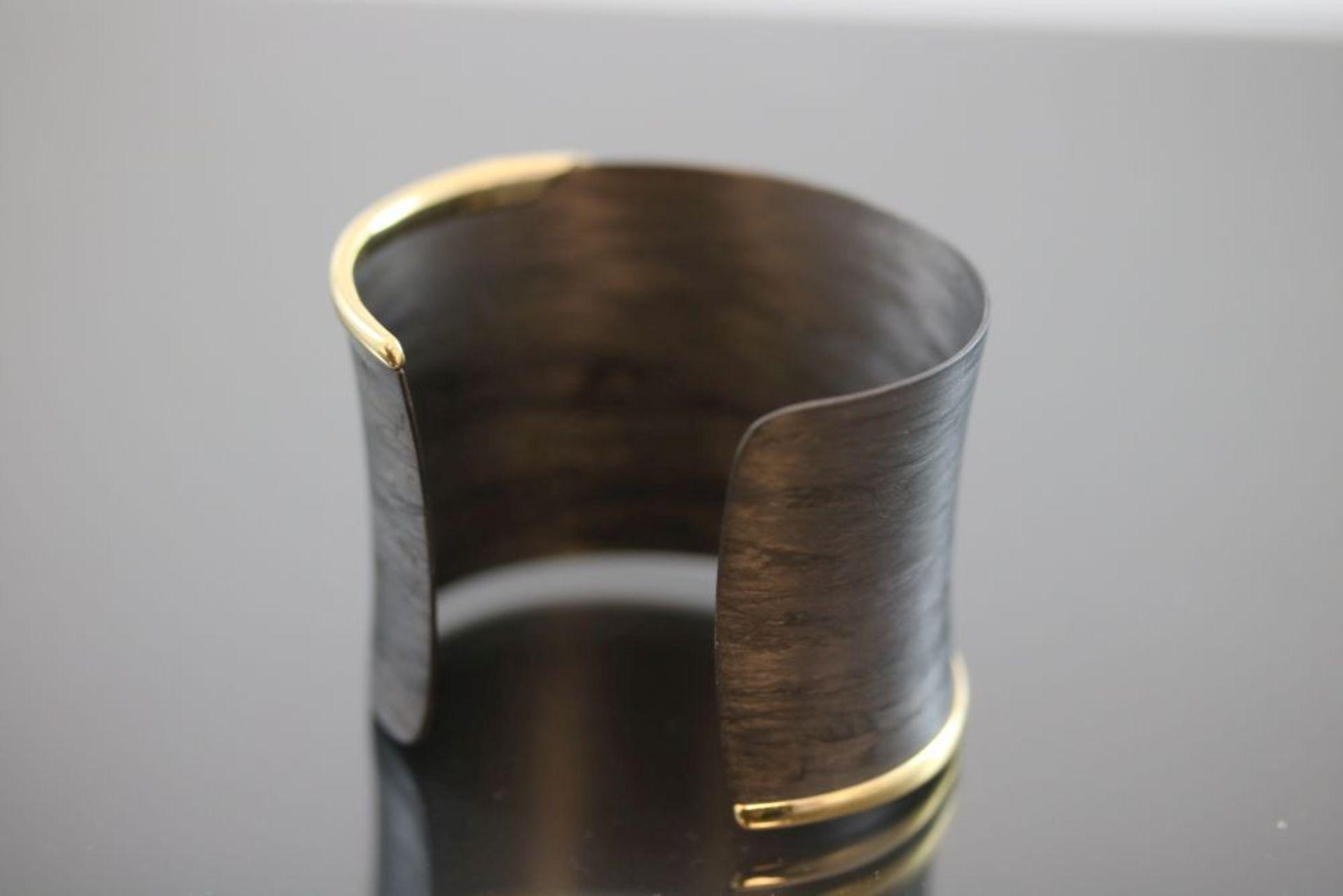 Armreif, Carbon/ Metall vergoldet 17,3 - Image 3 of 3