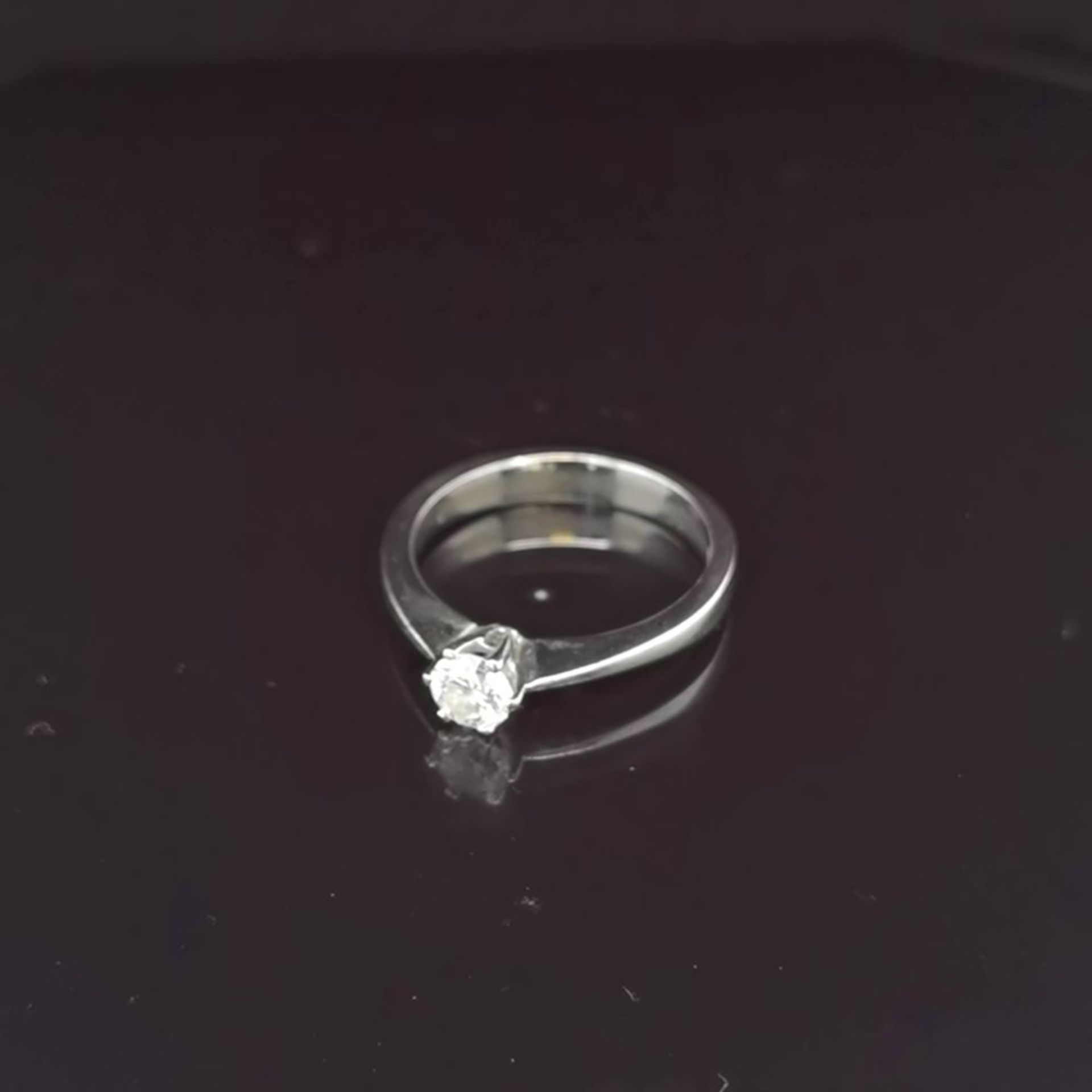 Brillant-Ring, 750 Weißgold 3,4