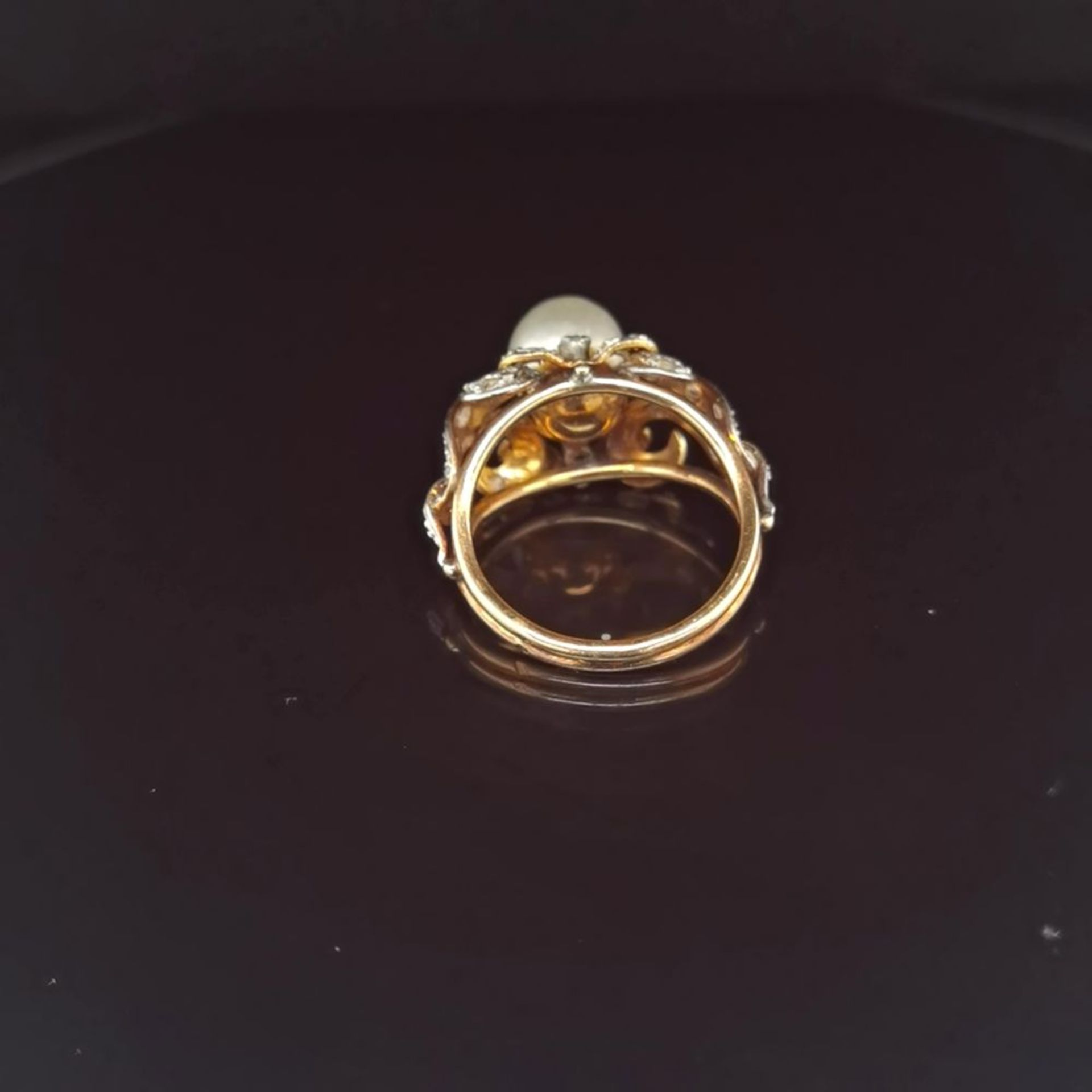 Perl-Diamant-Ring, 585 Gold 5,8 - Image 3 of 3