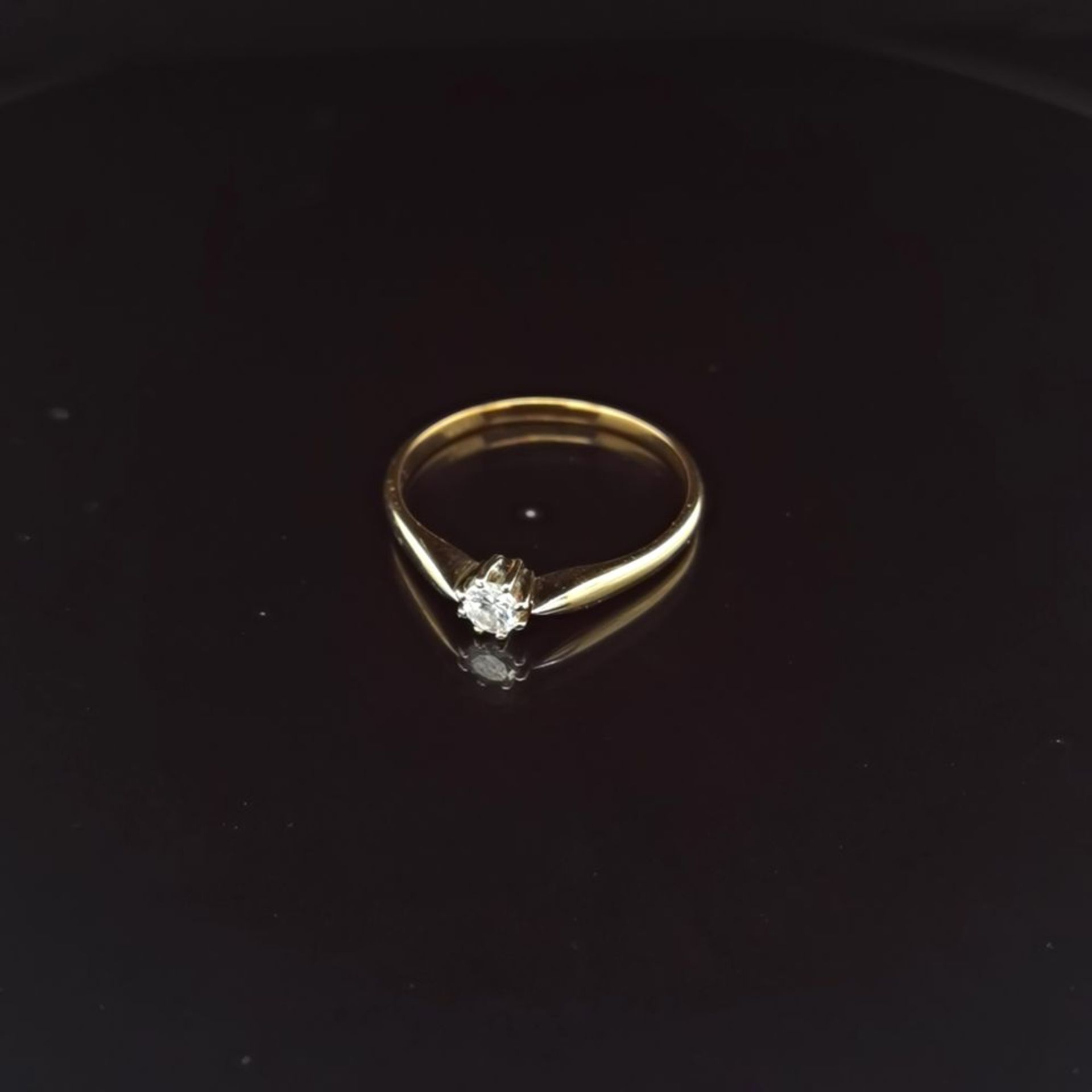 Brillant-Ring, 585 Gelbgold 2,3
