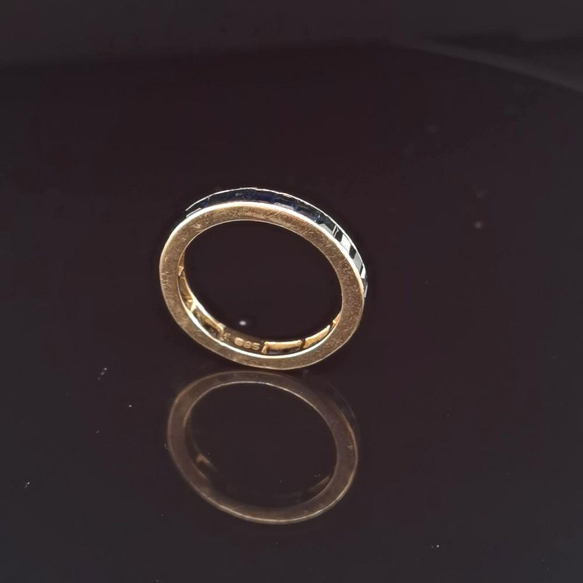 Saphir-Ring, 585 Gold 2,86 - Image 2 of 2