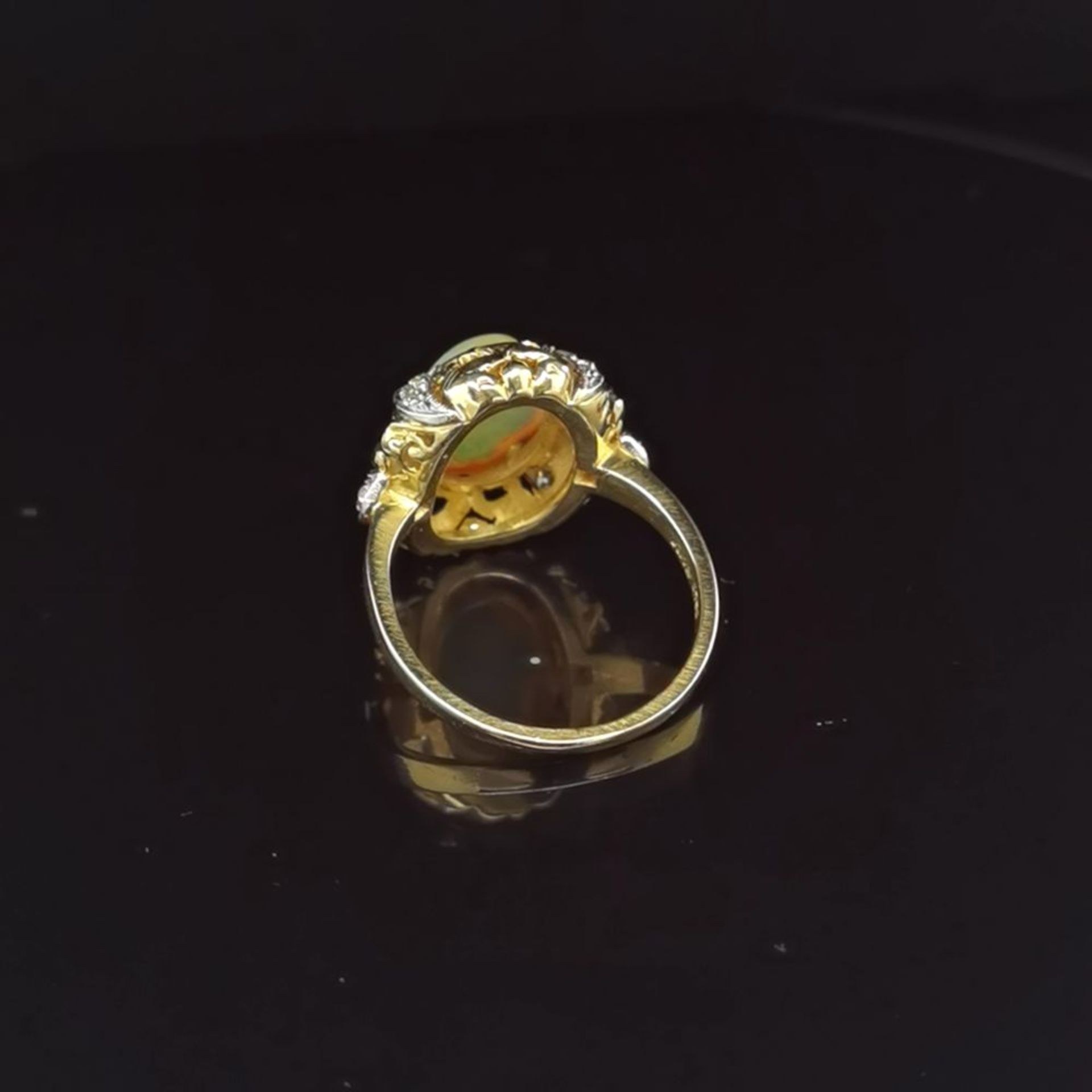 Opal-Brillant-Ring, 750 Gelbgold 7,5 - Image 3 of 3