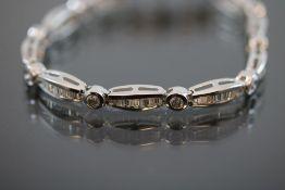 Brillant-Diamant-Armband, 750 Weißgold
