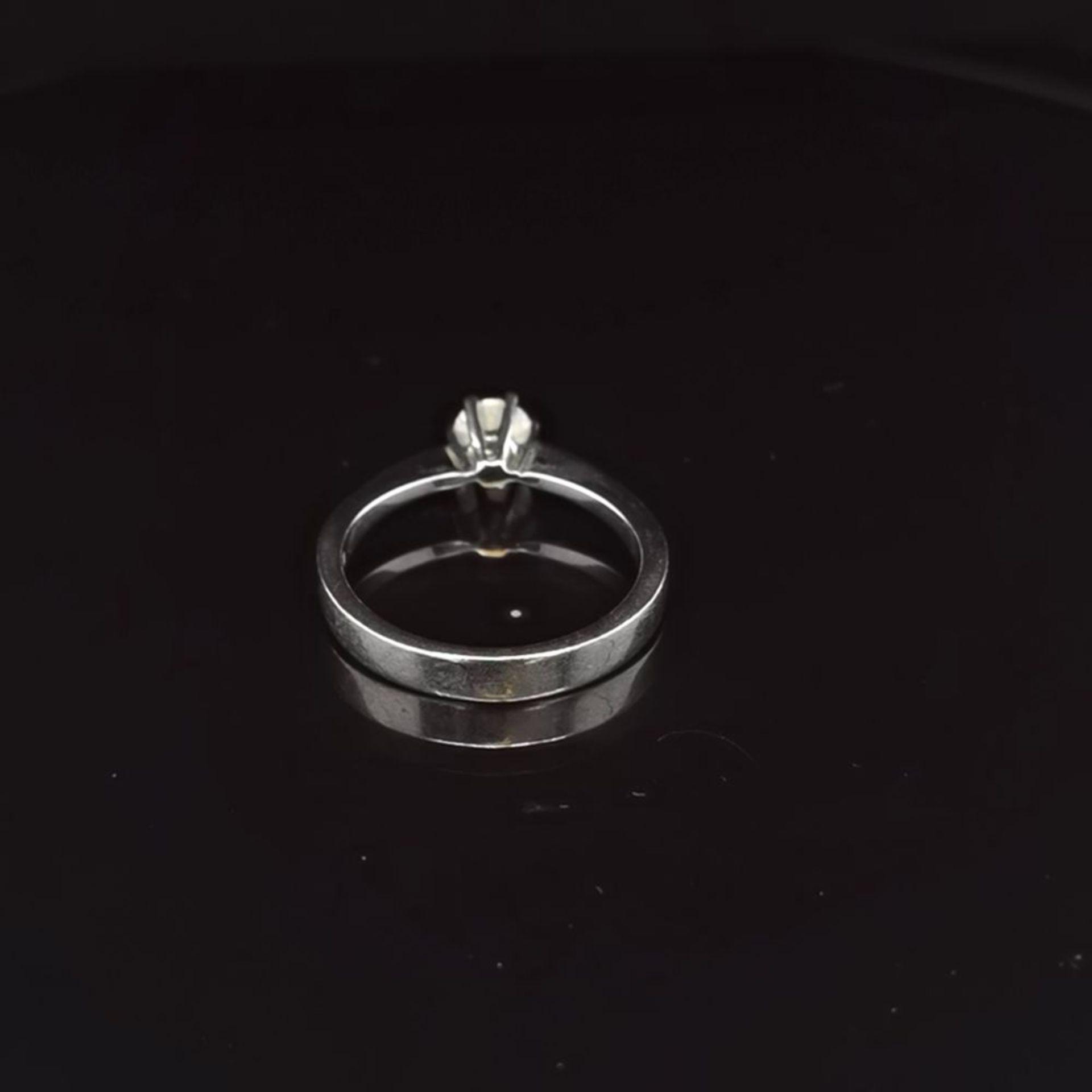 Brillant-Ring, 750 Weißgold 3,4 - Image 3 of 3