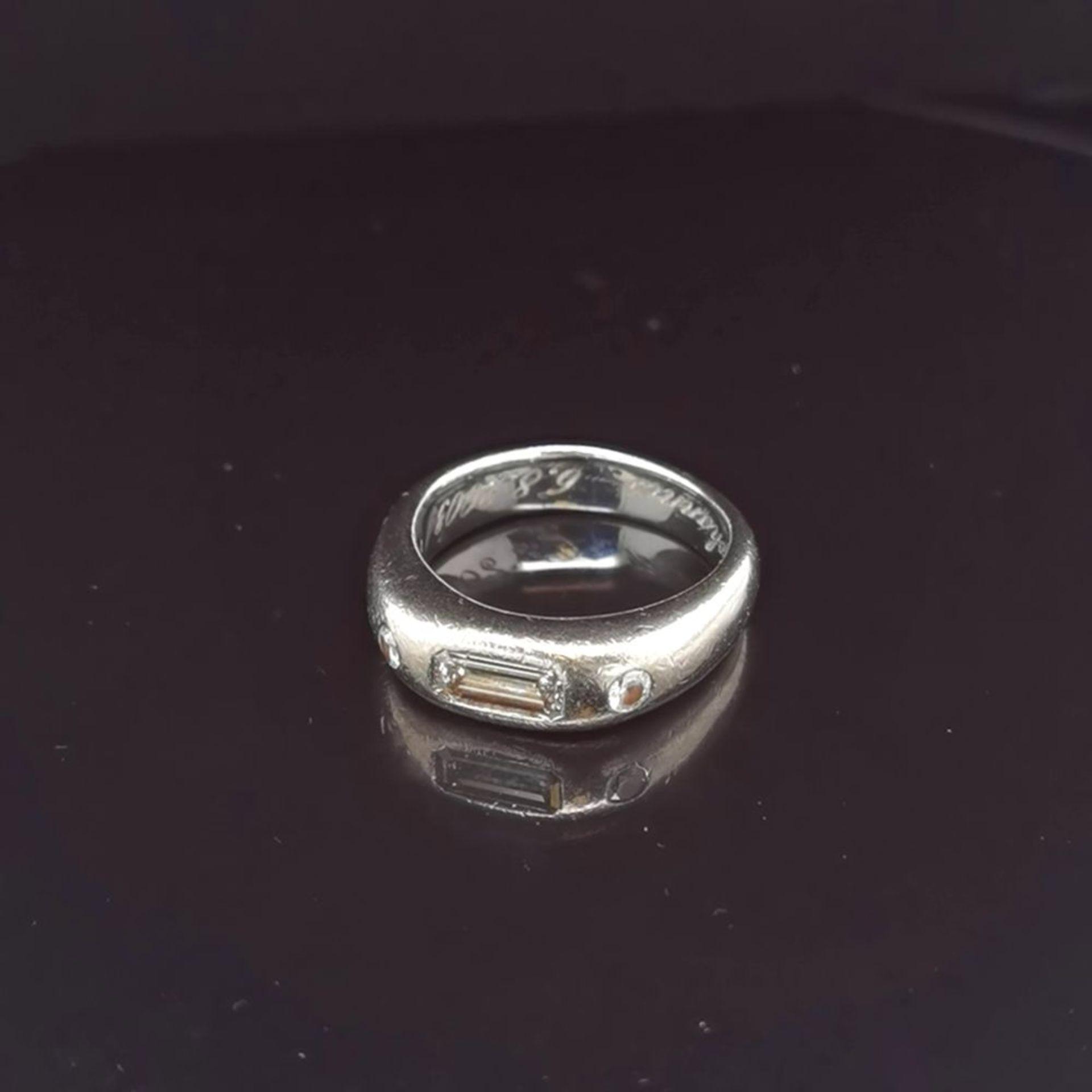 Diamant-Ring, 750 Weißgold 13,6