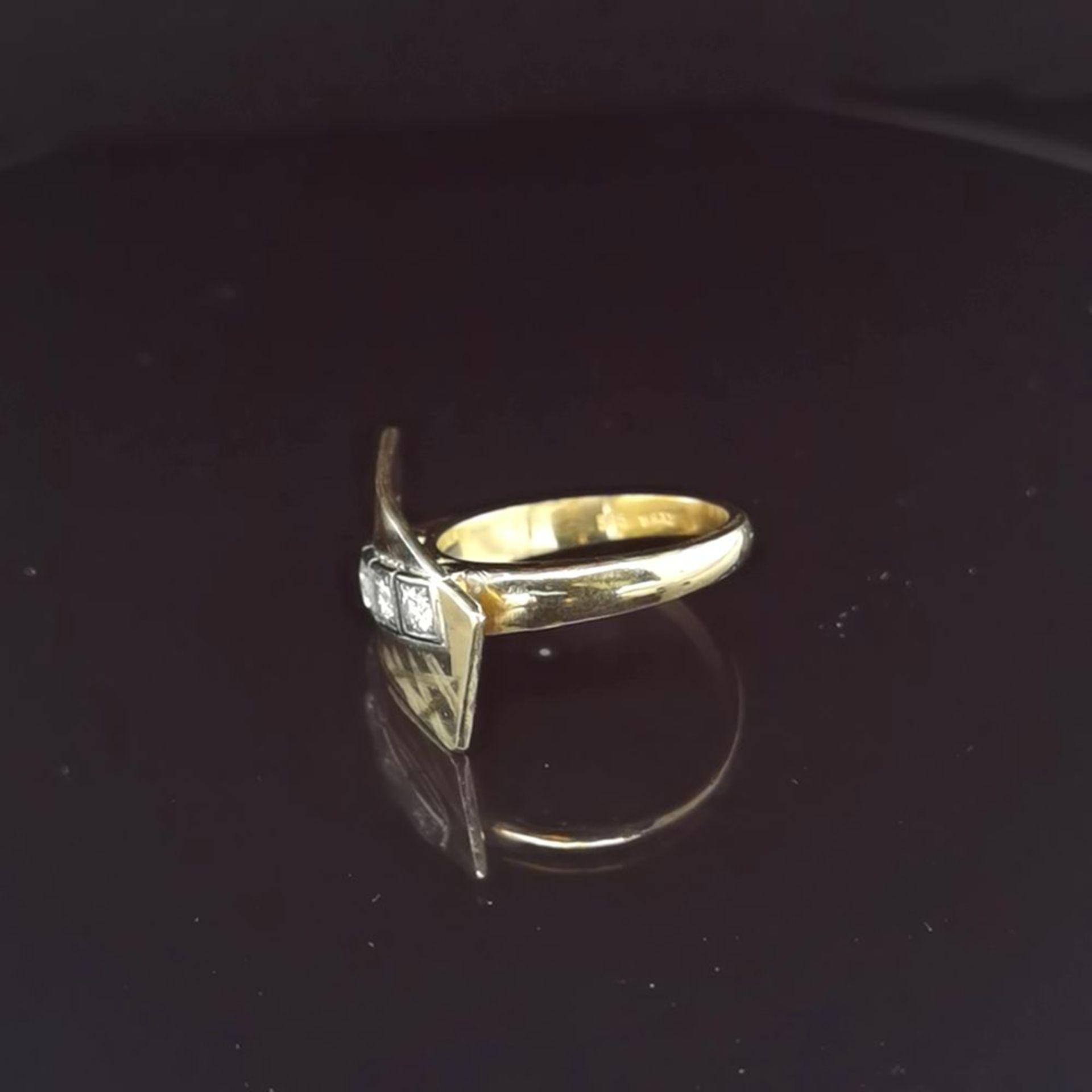 Brillant-Ring, 585 Gelbgold 7,18 - Image 2 of 3