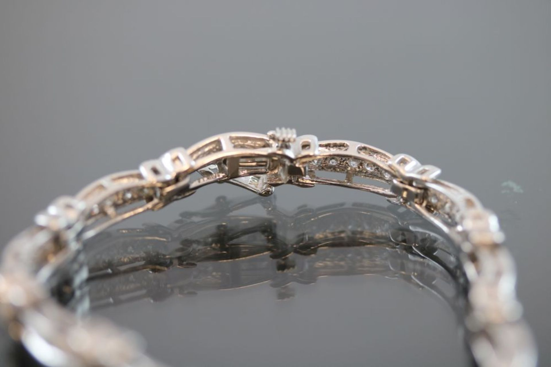 Brillant-Armband, 750 Weißgold 15 - Image 2 of 3