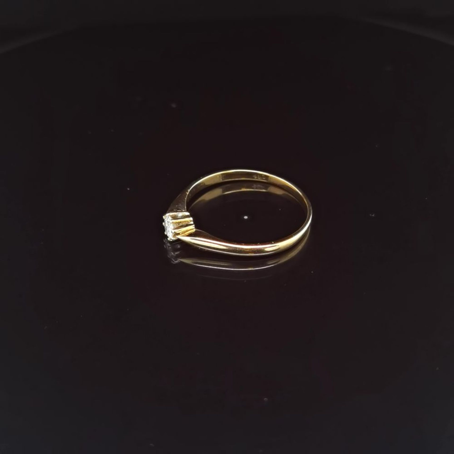 Brillant-Ring, 585 Gelbgold 2,3 - Image 2 of 3
