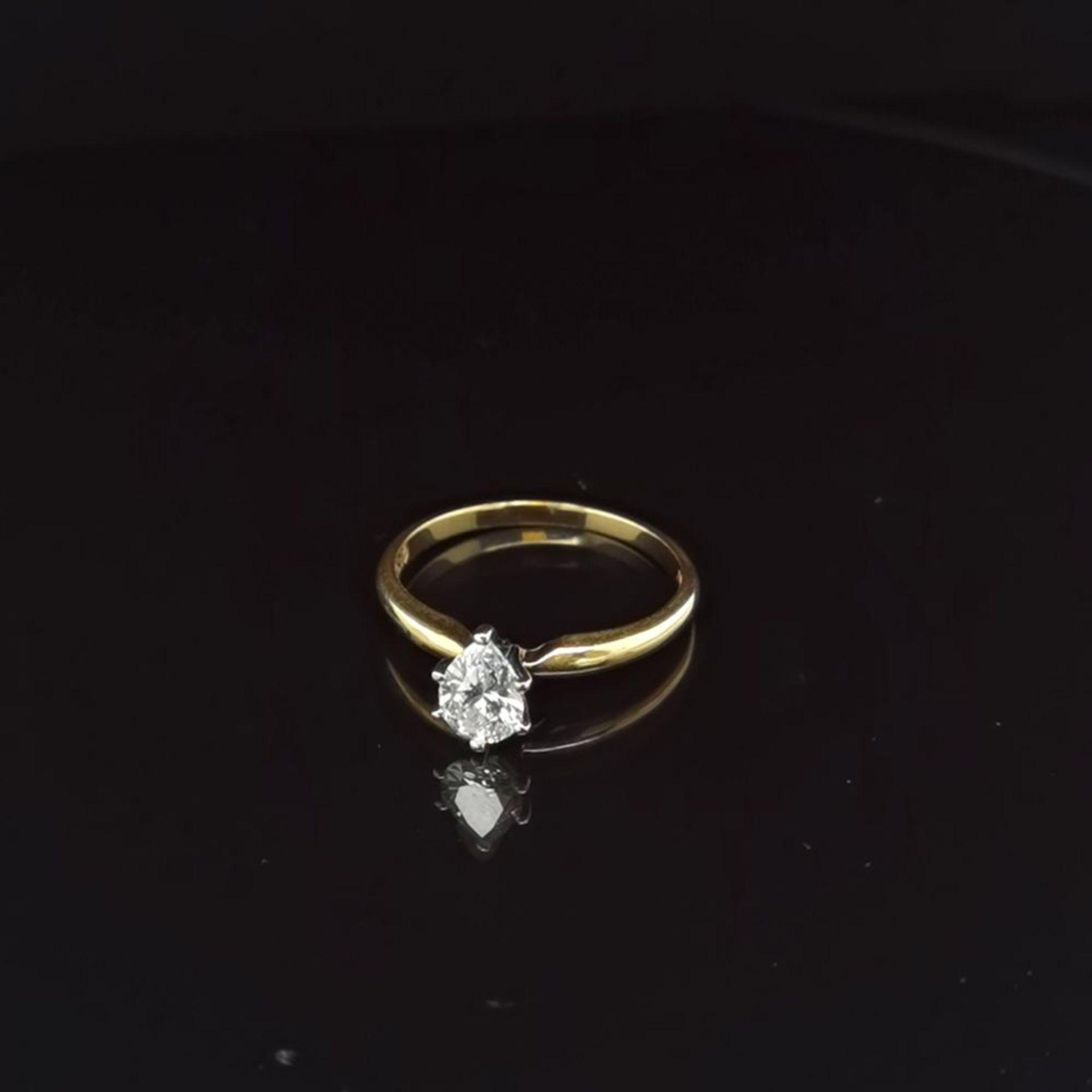 Diamant-Solitaire, 750 Gelbgold 2,5
