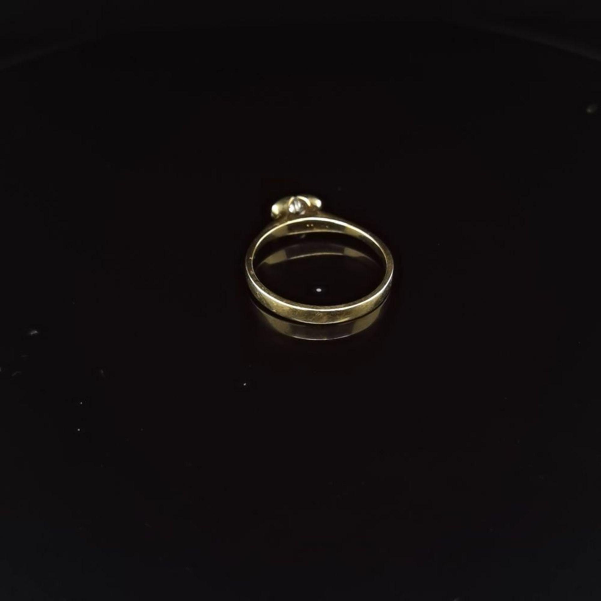 Brillant-Ring, 585 Gelbgold 2 - Image 3 of 3