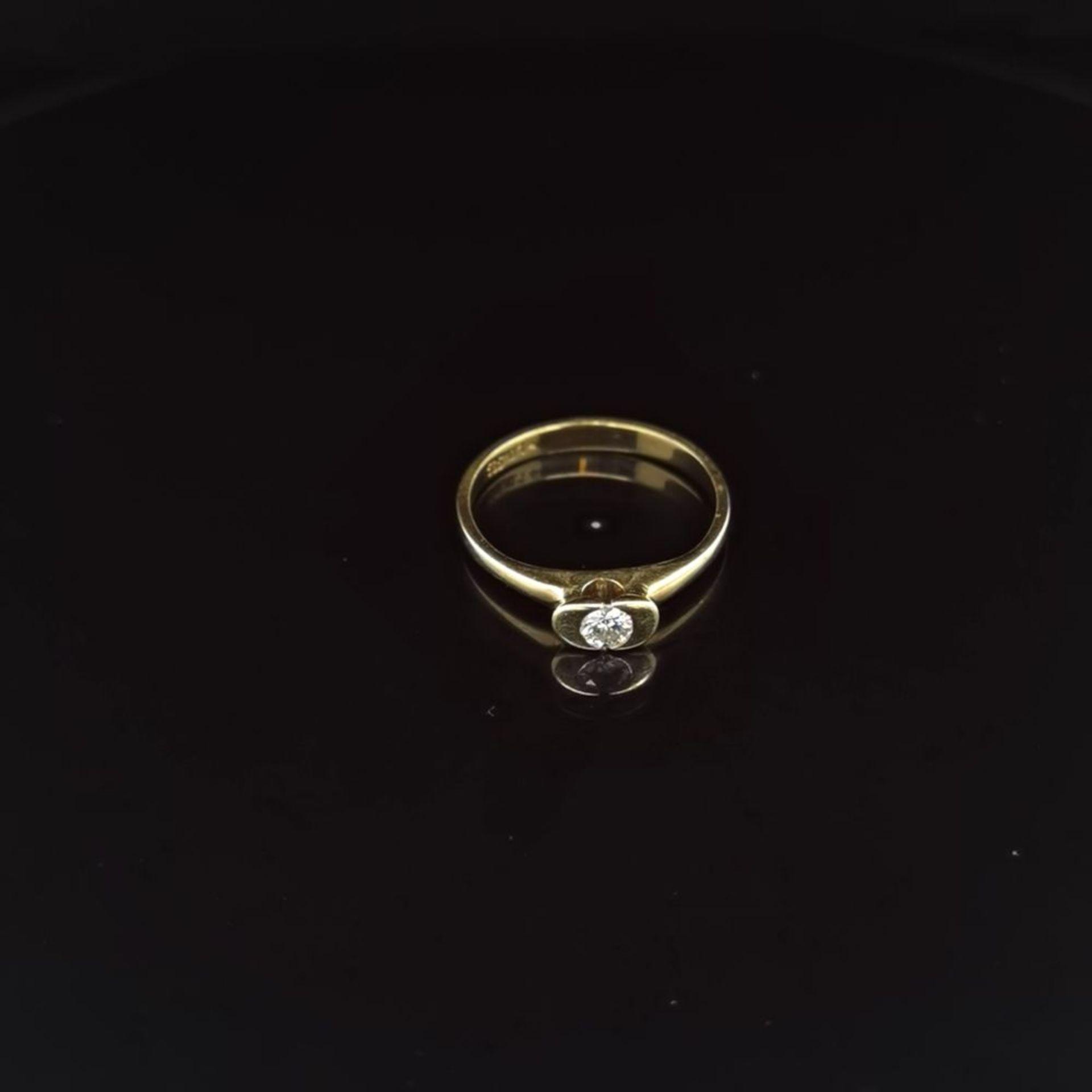 Brillant-Ring, 585 Gelbgold 2