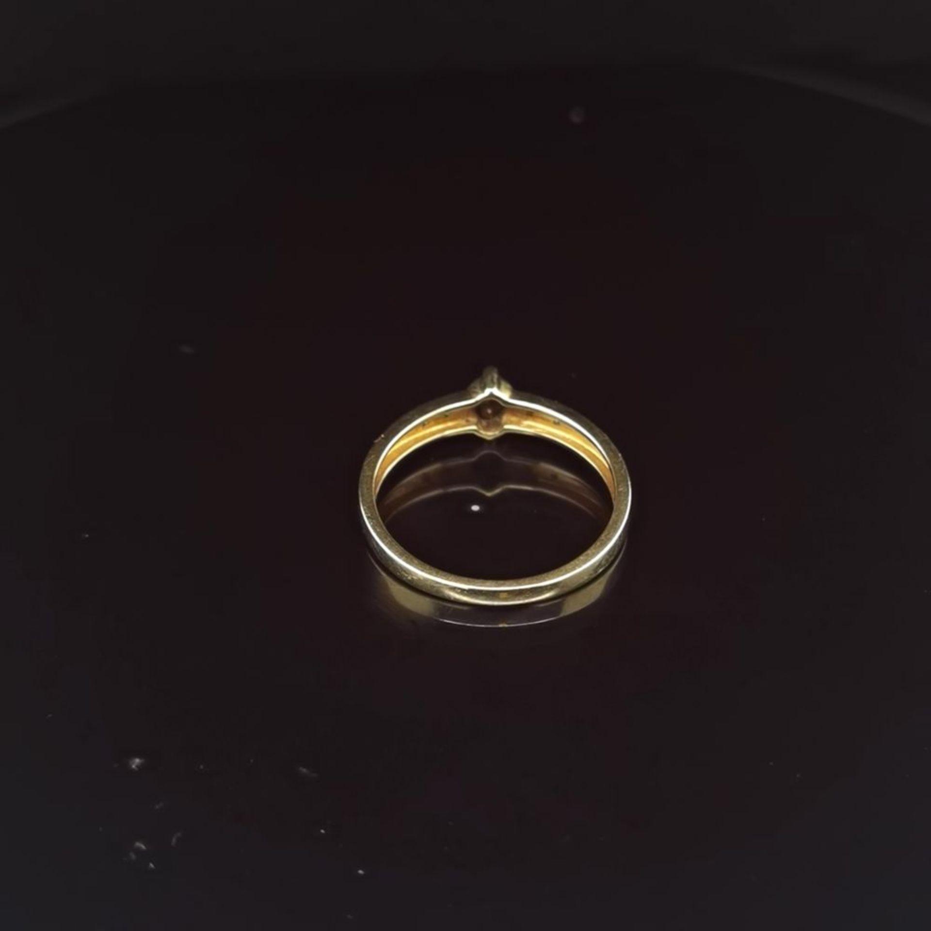 Saphir-Diamant-Ring, 585 Gelbgold 2,1 - Image 3 of 3