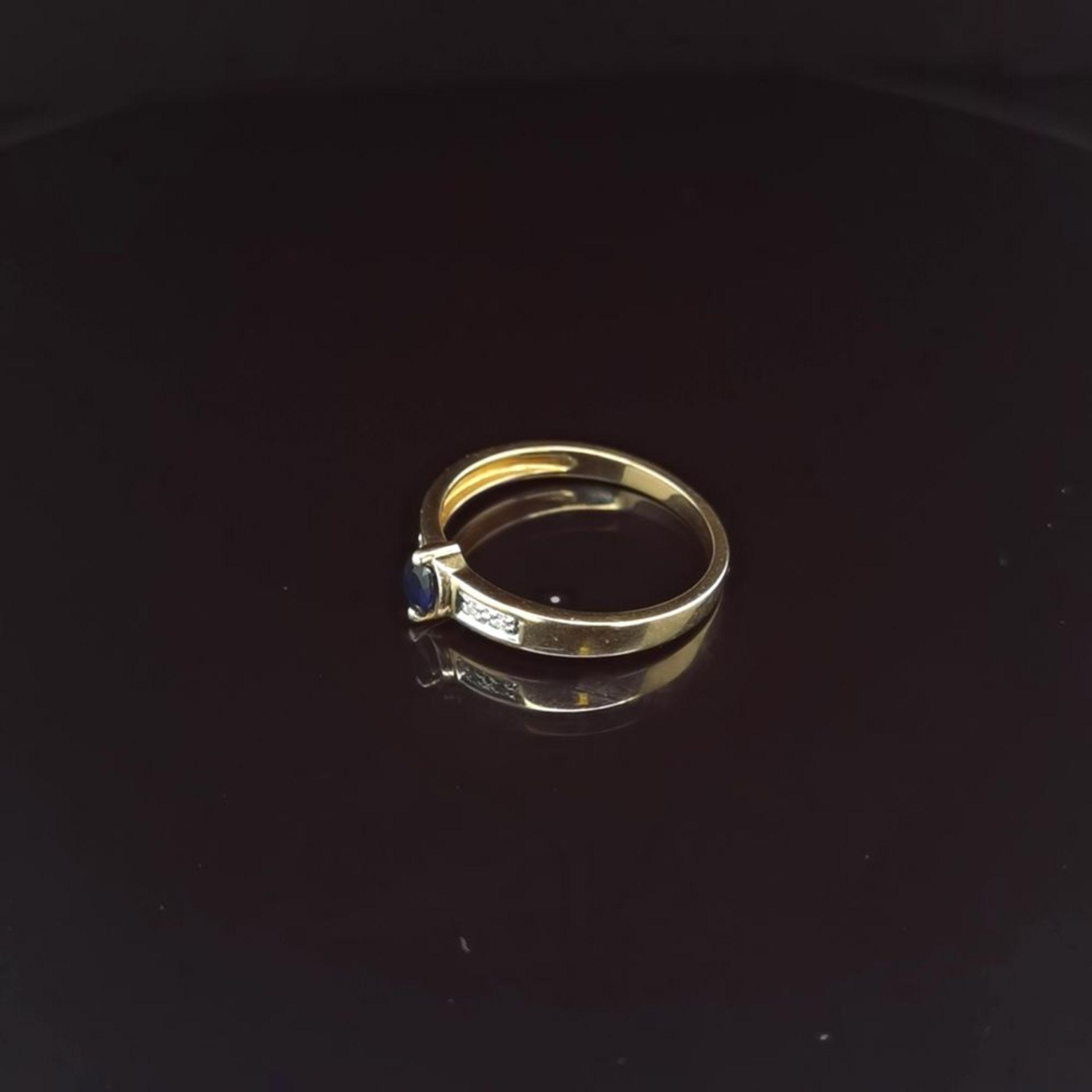 Saphir-Diamant-Ring, 585 Gelbgold 2,1 - Image 2 of 3