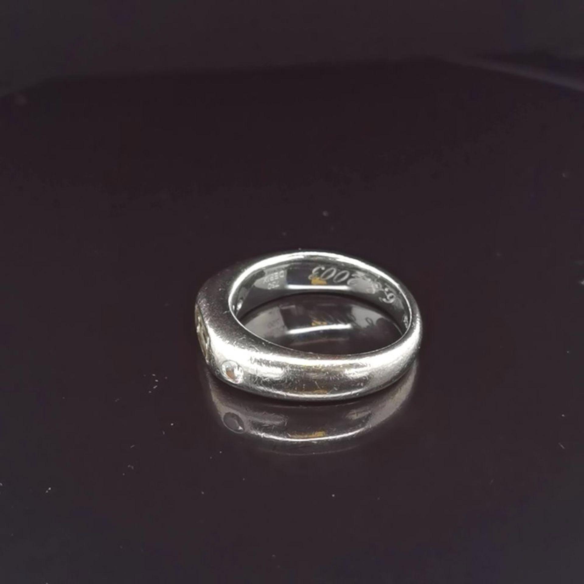 Diamant-Ring, 750 Weißgold 13,6 - Image 2 of 3