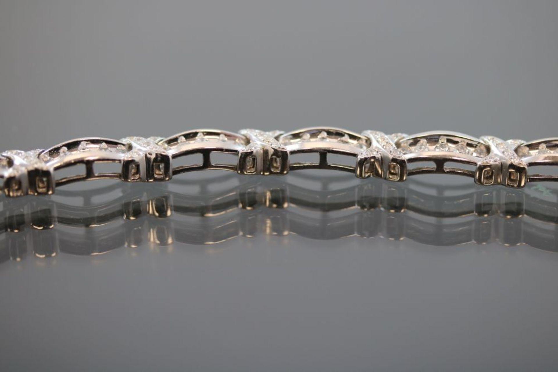 Brillant-Armband, 750 Weißgold 15 - Image 3 of 3
