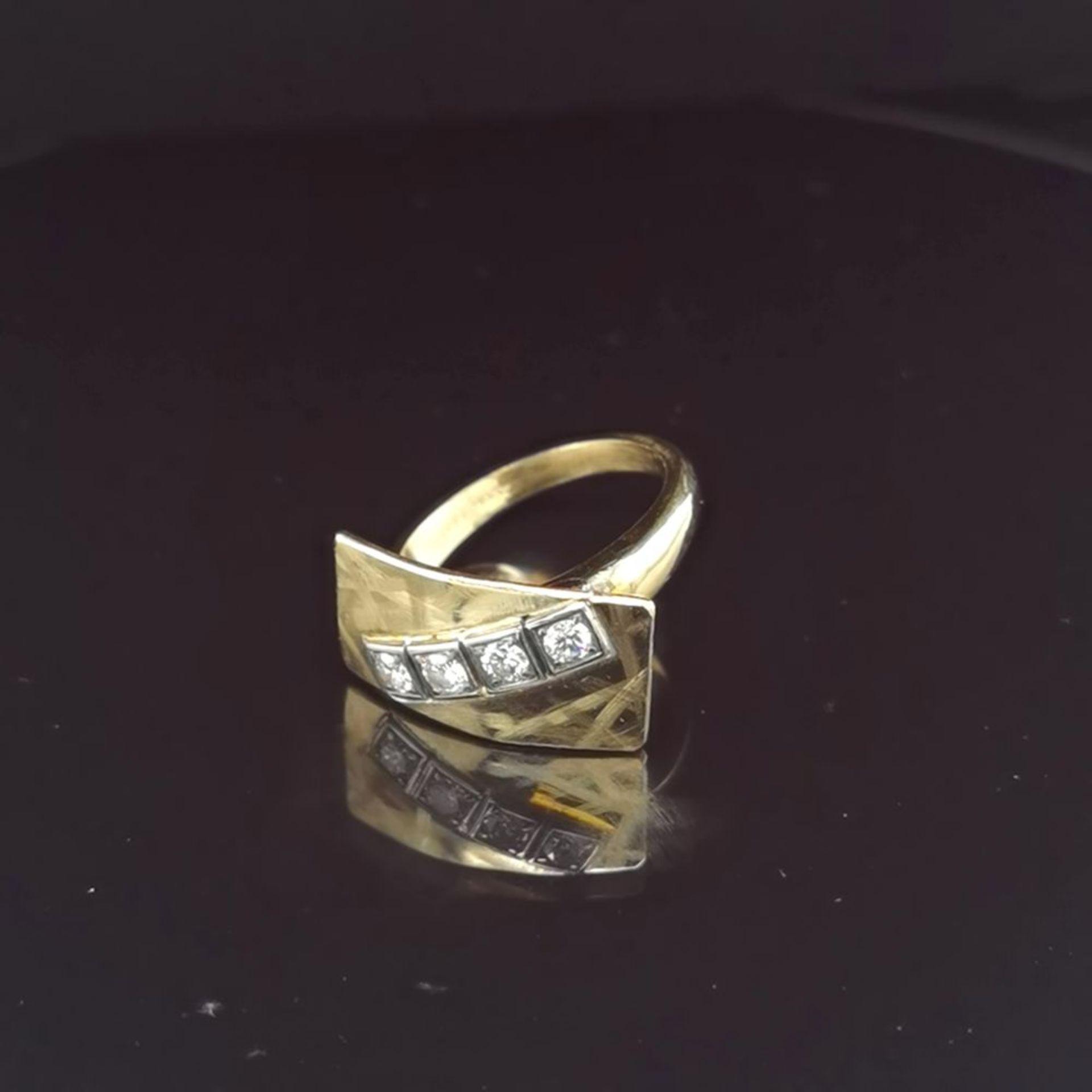 Brillant-Ring, 585 Gelbgold 7,18