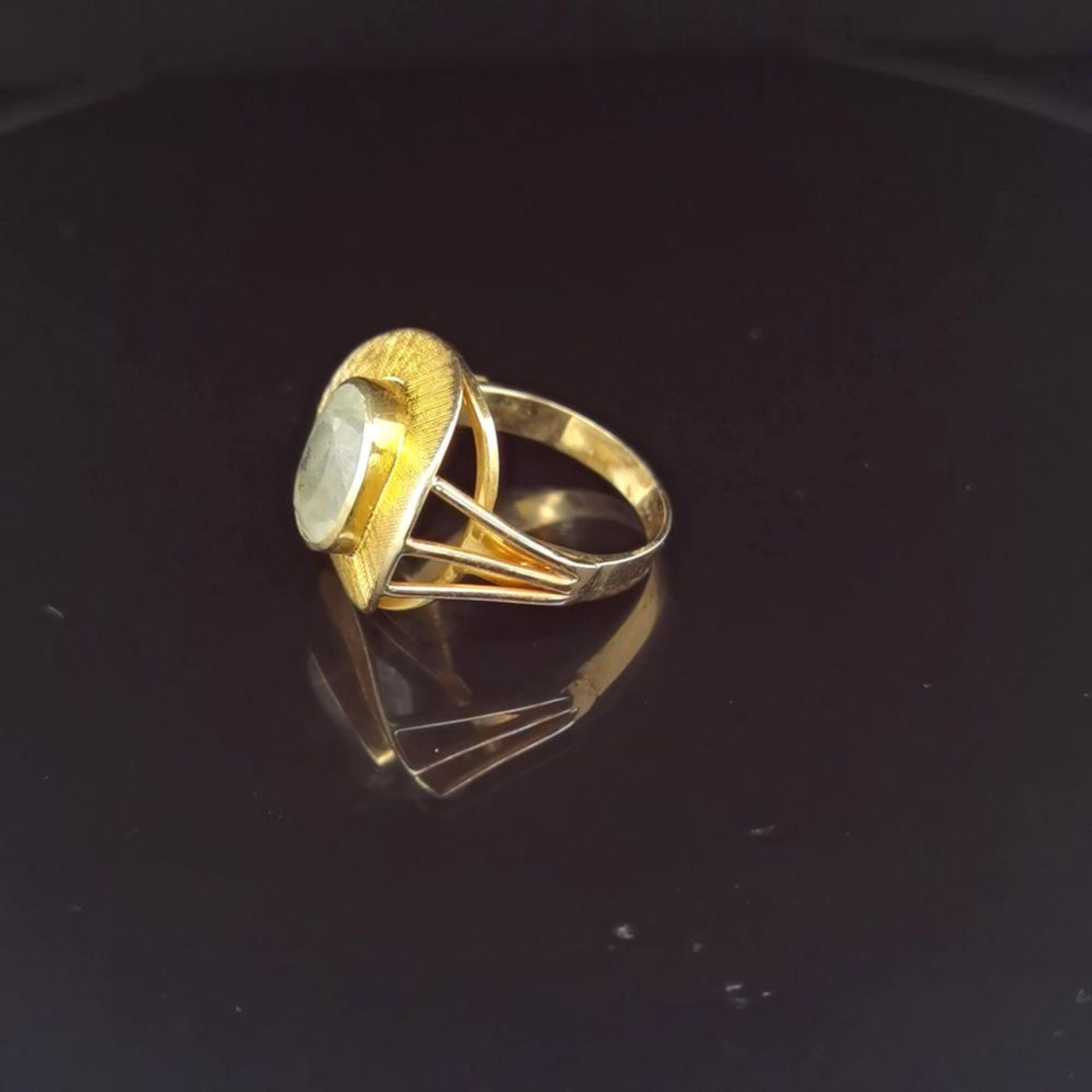 Aquamarin-Ring, 585 Gelbgold 5,7 - Image 2 of 3