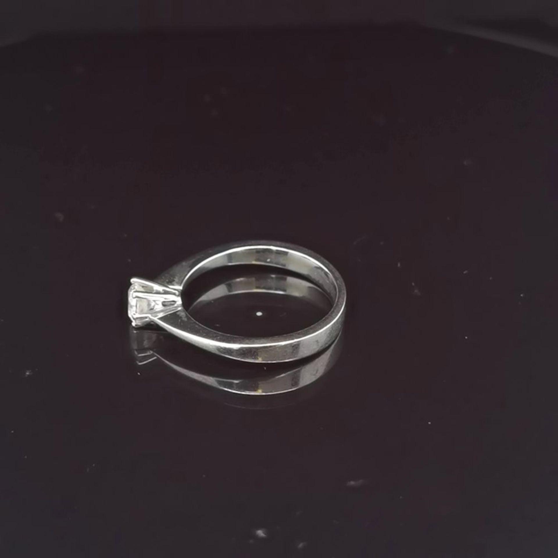 Brillant-Ring, 750 Weißgold 3,4 - Image 2 of 3
