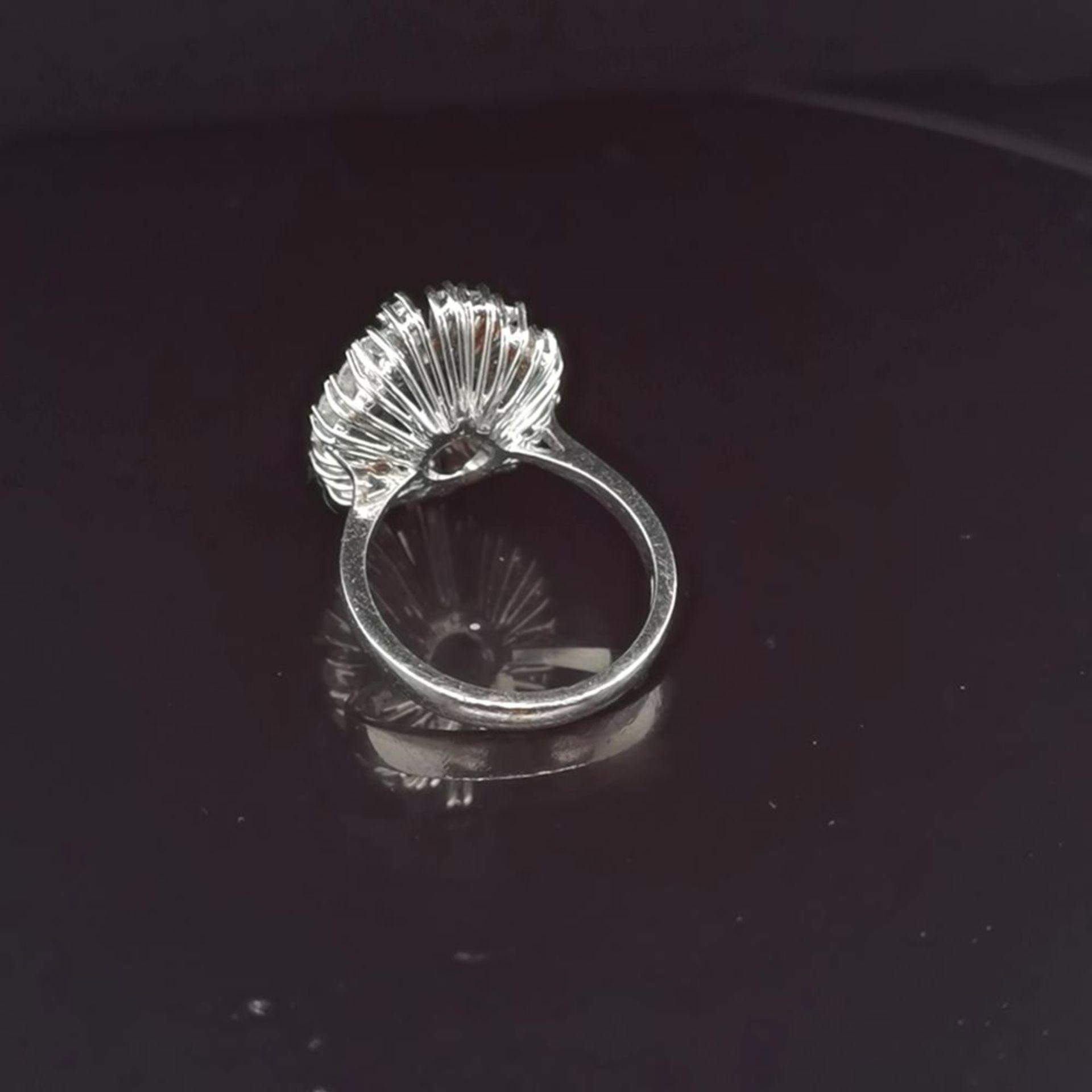 Saphir-Brillant-Ring, 585 Weißgold 6,7 - Image 3 of 3