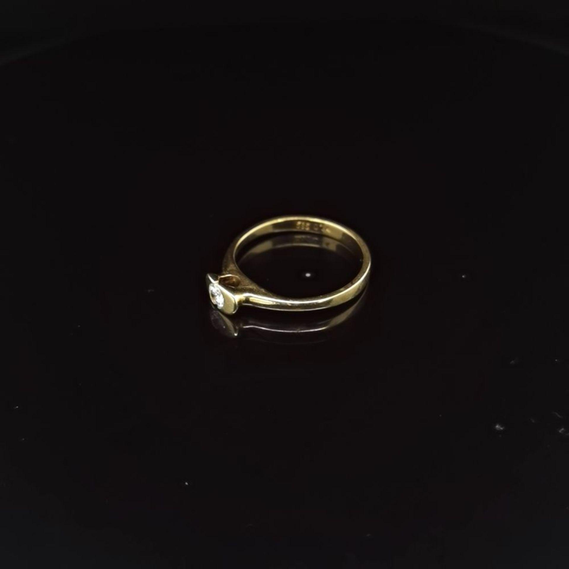 Brillant-Ring, 585 Gelbgold 2 - Image 2 of 3