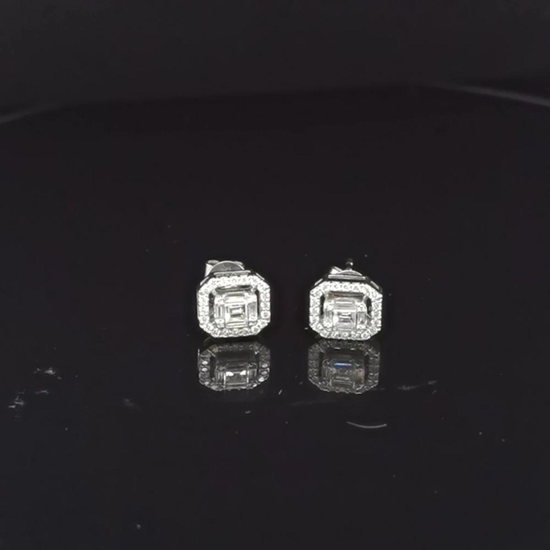 Diamant-Brillant-Ohrstecker, 585