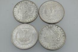 USA One Dollar 4 Stück Silber / Antik Morgan -Dollar « 2 x 1921 1 x 1879 1 x 1886