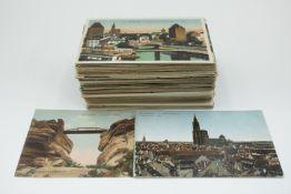 Posten Alte Postkarten 195 St. teilweise gelaufen Strassburg,Marseille,Frankreich allgemein,