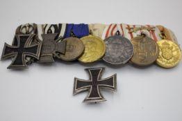 Ordensspange aus dem Nachlass eines Dragoner Seltene Erinnerungsmedailie 100 Jahre Waterloo Anbei