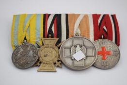 Ordensspange Sachsen / Drittes Reich 4 Dekorationen