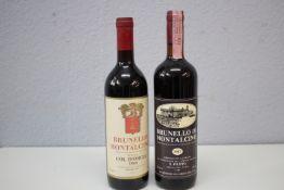 Paar Flaschen Rotwein 2 Stück 1.Brunnello di Montalcino 1987 S.Filippo Montalcino Italia 2.