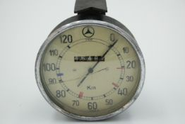 Mercedes-Benz Alter Tacho Glas hat einen Sprung wohl um 1950 Funktion nicht geprüft
