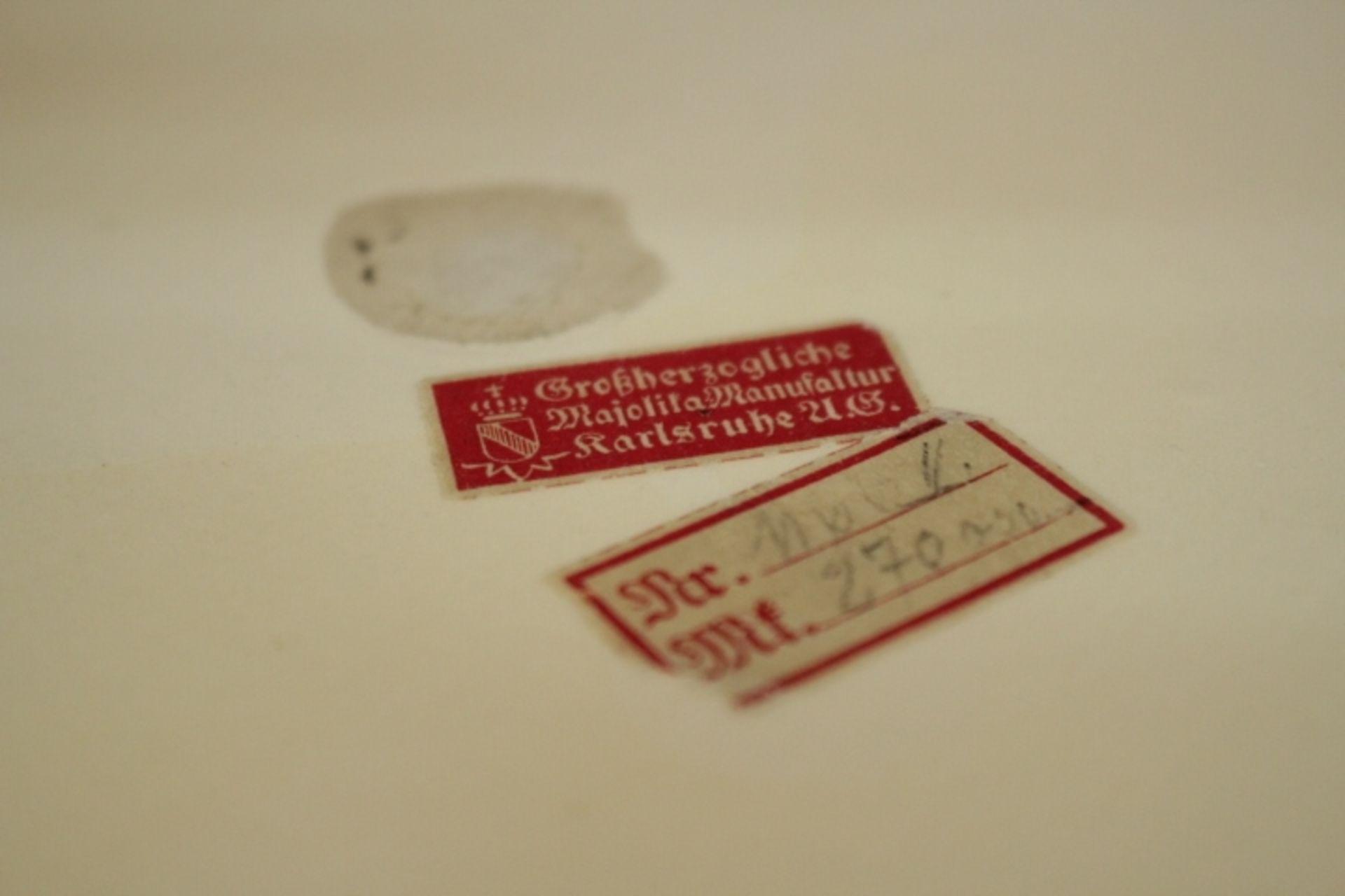 Karlsruher Majolika Schale Kinderreigen Entwurf:Wilhelm Süs 1910 -1930 Keramik Prägenr.1166 - Ec11 - Bild 2 aus 3