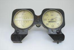 Kombinations Instrument wohl Opel Tankanzeige / Tachometer um 1940 Funktion nicht Geprüft