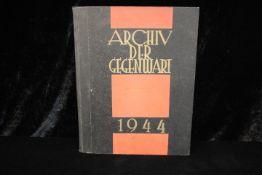 Archiv Der Gegenwart 1944 Mit Sammel-Sachregister Siegler-Verlag Dieses Buch wird von uns nur zur