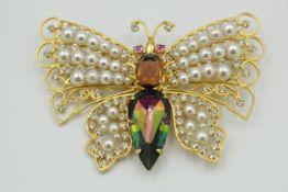 Modeschmuck Brosche Prächtiger Schmetterling Gemarkt:Pch Maße:10x7cm