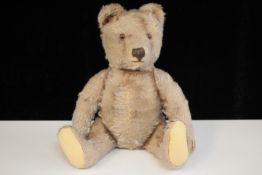 Teddybär um 1950 wohl Hermann ( 4 Krallen ) Glasaugen Höhe 29cm Bespielt