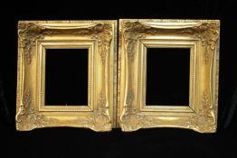 Paar gleiche Bilderrahmen Holz / Stuck wohl 20.Jhdt. Vergoldung Falzmaß 17 x 22,5 cm