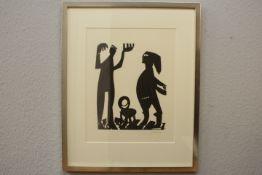 Grieshaber HAP 1909-1981 Reutlingen Holzschnitt ohne Titel « re.u.sig. Größe mit Rahmen 51x63cm