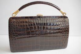Elegante Damentasche aus Reptilleder /
