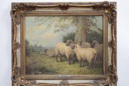 BRYANT,H.C. 1812-1881 >> Schafe in weiter Landschaft