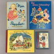 """4 Kinderbücher: """"Mein Püppchen"""" Felicitas Kuhn, """"Die Fahrt ins Wunderland"""" F. Baumgarten, """"Der"""