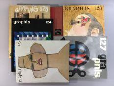 Graphis- intern. Zeitschrift für Graphik u. Angewandte Kunst, Jahrg. 1966 , Heft 123, 124, 125, 127,