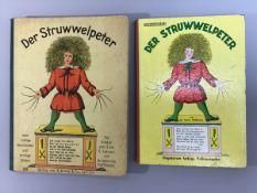 """2 Ausgaben """"Der Struwwelpeter"""", 1x Verlag von Anton & Co., Leipzig, 1 x unzerreissbare,"""