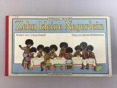 """""""10 kleine Negerlein"""", Kleinkinderbuch um 1910, Bilderbüchersammlung """"Was ihr wollt"""", Bilder von"""