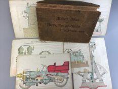 """Modell-Atlas """" Der praktische Maschinenbauer"""" v. Ripke, um 1900, 6 Tafeln techn. Zeichn. Z."""